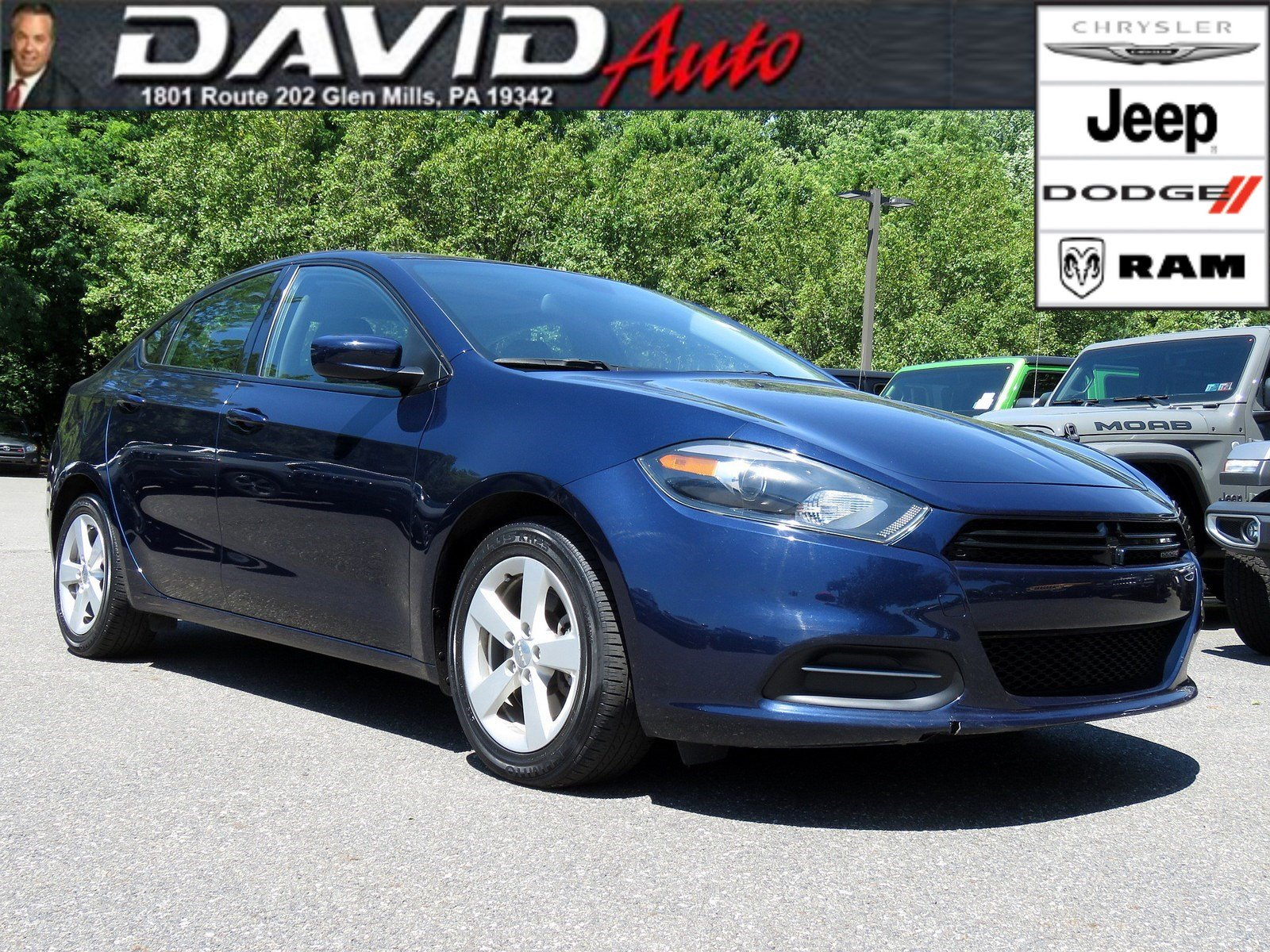Dodge Dart Sxt >> Pre Owned 2015 Dodge Dart Sxt 4dr Car In Glen Mills M19040a David